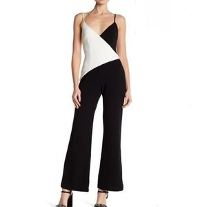 NWT Alexia Admore color block jumpsuit black white